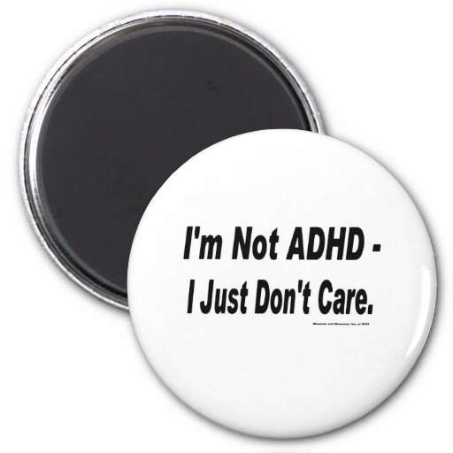 Inte ADHD Magnet För Kylskåp