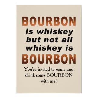 Inte all Whiskey är BOURBON! 14 X 19,5 Cm Inbjudningskort