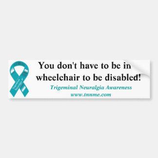Inte alla handikapp gäller en rullstol! bildekal