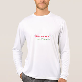 Inte att gifta sig inte kristna manar skjorta tee shirt