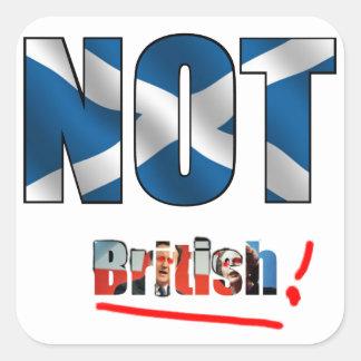 Inte brittisk klistermärke