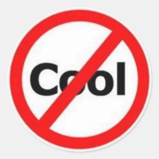 inte-coola runt klistermärke
