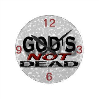 """""""Inte död gud """", Rund Klocka"""