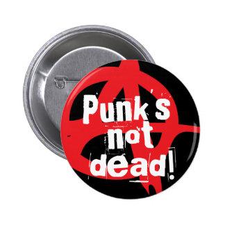 Inte död punks! standard knapp rund 5.7 cm