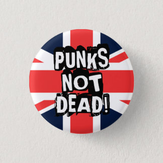 Inte döda Punks Mini Knapp Rund 3.2 Cm