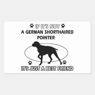 Inte en tysk shorthaired pekare rektangulärt klistermärke