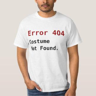 Inte-funnen dräkt för fel 404, Anti-Halloween Geek T-shirts