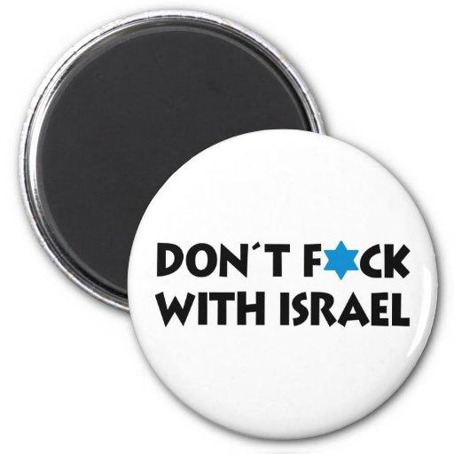 Inte gör F*ck med Israel Kylskåpsnagnet