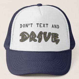 Inte gör text och drevhatten truckerkeps
