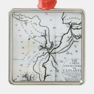 Inte III Conjectural karta av ön av Julgransprydnad Metall