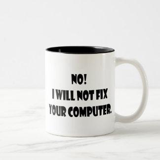 Inte! Jag ska inte knipan din dator! Två-Tonad Mugg