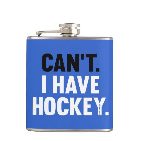 Inte kan jag ha blått för rolig ursäkt för hockey fickplunta
