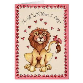 Inte lejont - hälsningkort hälsningskort