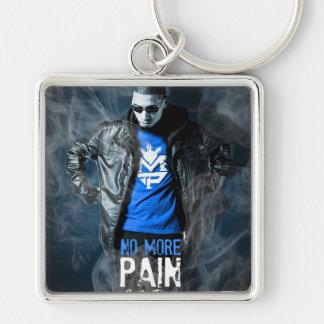 Inte mer smärtar högvärdigt kvadrerar Keychain Fyrkantig Silverfärgad Nyckelring