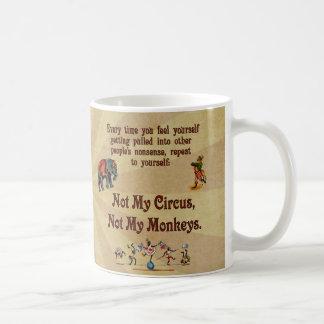 Inte min apor, inte min cirkus kaffemugg