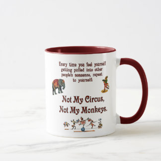 Inte min apor, inte min cirkus mugg