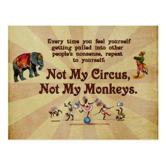 Inte min apor, inte min cirkus vykort