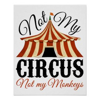Inte min cirkus - inte min apaaffisch poster