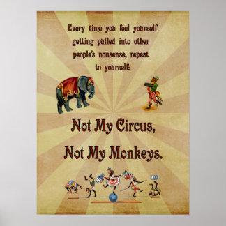 Inte min cirkus, inte min apor poster