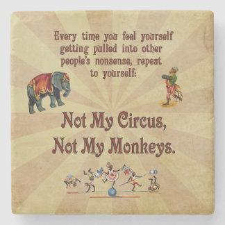 Inte min cirkus, inte min apor underlägg sten