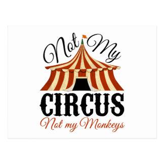Inte min cirkus - inte min apor vykort