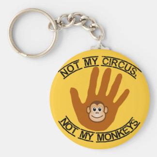 Inte min cirkus - keychain rund nyckelring