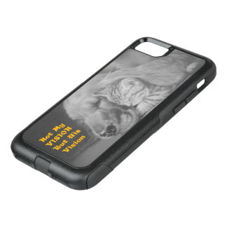 Inte min vision utan hans vänliga katt och hund OtterBox commuter iPhone 7 skal