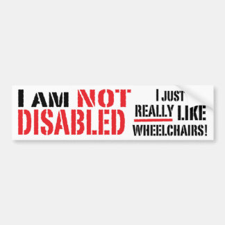 Inte rörelsehindrad bildekal