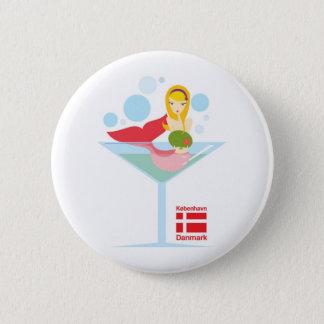 inte så lite sjöjungfru standard knapp rund 5.7 cm