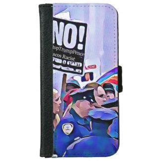 Inte! Stoppa trumf & encentmynt, kvinna mars för iPhone 6/6s Plånboksfodral