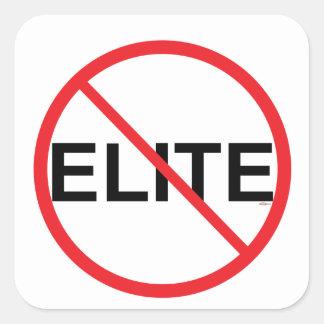 Inte till eliter fyrkantigt klistermärke