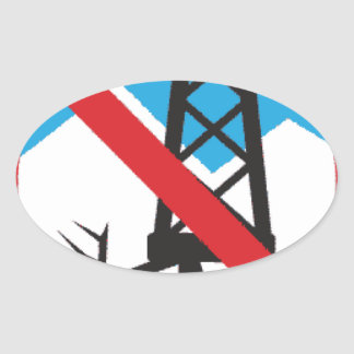Inte till Fracking Ovalt Klistermärke