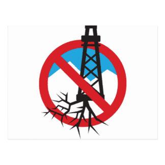 Inte till Fracking Vykort