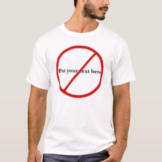 Inte tillåtet t-shirt