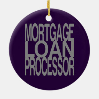 Mortgage Loan Processor in Tall Silver Text