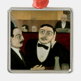 Intellektuellerna på cafen Rotonde, 1916 Julgransprydnad Metall