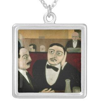 Intellektuellerna på cafen Rotonde, 1916 Silverpläterat Halsband