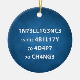 Intelligenscitationstecknet cirklar prydnaden julgransprydnad keramik