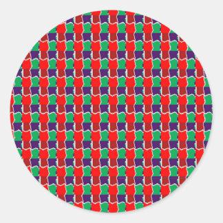INTENSIV färg mönstrar mycket låg GÅVAluv för Runt Klistermärke