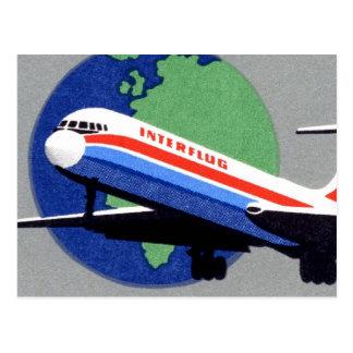 INTERFLUG - Medborgareflygbolag av DDR, East Vykort