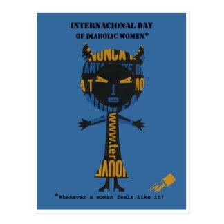 Internationell dag av djävulska kvinnor vykort
