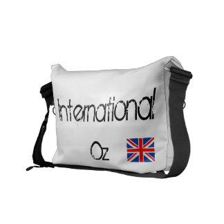 Internationell uns - Den brittiska flagga reser hä Messenger Bag