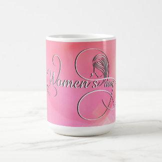 Internationella kvinna dag - rosa vattenfärg kaffemugg