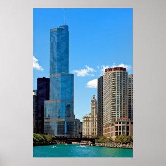 Internationellt hotell & Tower® Chicago för trumf Poster
