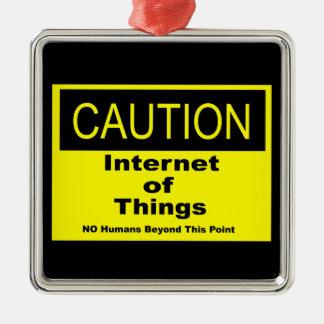 Internet av saker som IoT varnar varning, Julgransprydnad Metall