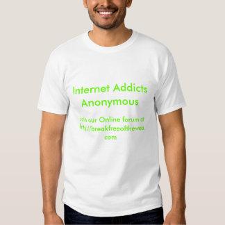 Internet missbrukar anonymt t shirt