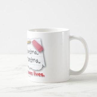 Interpunktion sparar liv kaffemugg