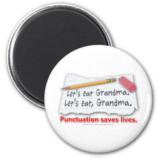 Interpunktion sparar liv magnet