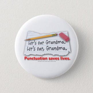 Interpunktion sparar liv standard knapp rund 5.7 cm