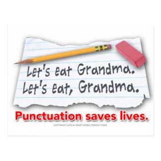 Interpunktion sparar liv vykort